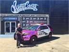 West Coast Customs based in Burbank, Calif., donated this flashy pink