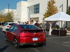 GM brought the Chevrolet Volt for attendees to drive. Photo by Greg