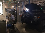 The shop adds equipment to a variety of vehicles, including tactical