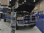 Chrysler had a CNG-fueled Ram 3500 at the show.