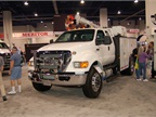 Going inside the Expo, several of the major OEMs had their trucks on