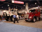 In the heavy-duty category, Kenworth displayed several trucks,