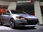 Chrysler also had its all-new Dodge Dart at the auto show.