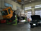 City vehicles being repaired at two of the City s 10 repair bays.