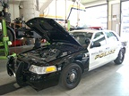 Fleet maintains 102 on-road vehicles for the police department.