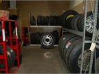 Tire storage room.