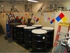 Storage room for oil and grease.