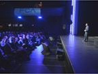 Reid Bigland, head of U.S. sales, addresses the crowd at Sound Board