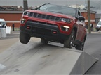 The Jeep Compass on three wheels
