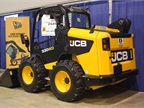 JCB 300eco skid steer loader, which, according to a representative, is compliant with interim Tier 4 emissions regulations without use of selective catalytic reduction (SCR) technology or a diesel particulate filter (DPF). In addition, it can be modified to Tier 3 for resale purposes.