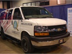 4-wheel drive Express passenger van converted by Quigly Motor Company