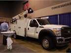 Ford super-duty with PalPro 43 Crane package
