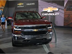 Chevrolet gave journalists had the Silverado on display, and announced