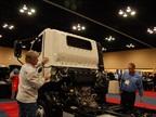 Hino showcased its COE 195h hybrid truck.