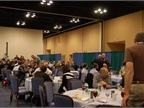 Attendees took a lunch break in the exhibit hall.