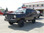 The Santa Ana Police Department has an armored car in its fleet.