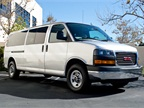 This GMC Savana 3500 has the extended 155-inch wheelbase.