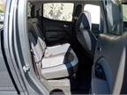 The work truck model offered to fleets includes a seat delete for