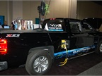 Gasoline-electric hybrid Chevrolet Silverado, modified by VIA Motors.