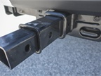The F-350 offers a receiver that can accommodate three sizes of