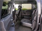 The crew cab model offers leather bucket seats.