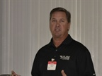 Rick Crossman of Crossco discussed a new brake rotor being tested by