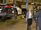 Nina Hoffert, fleet manager for the City of Lakewood, talks in front