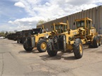 The city owns two motor graders, which are primarily used to break up
