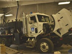 This patch truck is used for patching potholes and for other street