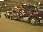 The city s contracted towing company brings in a truck for repair.
