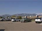 Pike s Peak can be seen from the joint city and utility fleet