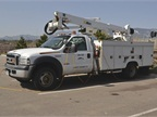 The utility fleet has a large aerial fleet of more than 80 vehicles,
