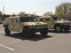 The municipal fleet has a small group of Humvees in its police