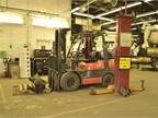 The utility fleet has more than 20 forklifts with capacities from 4000