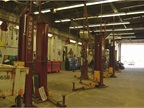 This joint utility and municipal repair location has 22 bays and 14