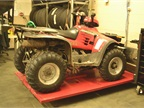 This 1999 Polaris 4-wheeler was recycled from the Parks Department to