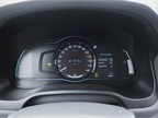 The instrument panel shows state of charge, percentages that track