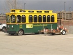 The town's trolley is used primarily for special events but can