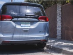 The hands-free sliding doors and rear liftgate can be opened with a