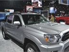 The Toyota Tacoma was on view in both a standard version and an upfit