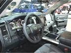 The interior of a Ram 1500 light-duty truck.