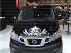 A Nissan NV200 is put to use in the Nissan booth during the 2013 L.A.