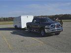 A 2016  Ram 2500 Limited Crew Cab 4X4 towing a 12,300 pound trailer.