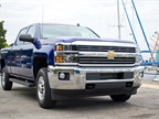 The 2015 Silverado 2500 Crew Cab with bi-fuel CNG option reduces emissions while delivering full-size truck utility.