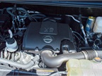 Here s a view of the van s optional 5.6L V-8; a standard 4.0L DOHC V-6