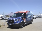 Riverside County's Veteran's Services vehicle is used for outreach and was put in service just one month ago. The wrap was an original design by a fleet technician.