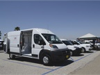 FCA vehicles at the event included the Promaster, Promaster City, and
