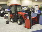 The Steiner 440 tractor has a two-point Quick-Hitch system that makes