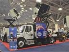 Schwarze Industries  A8 Twister street sweeper features a 12-foot high