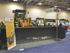 Case Construction Equipment s sectional snow pusher features moldboard